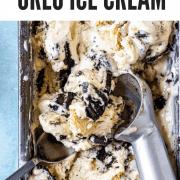 Close up of oreo ice cream