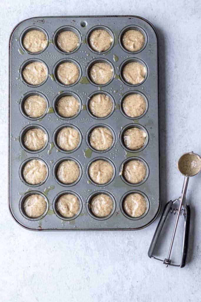 mini muffins in tin