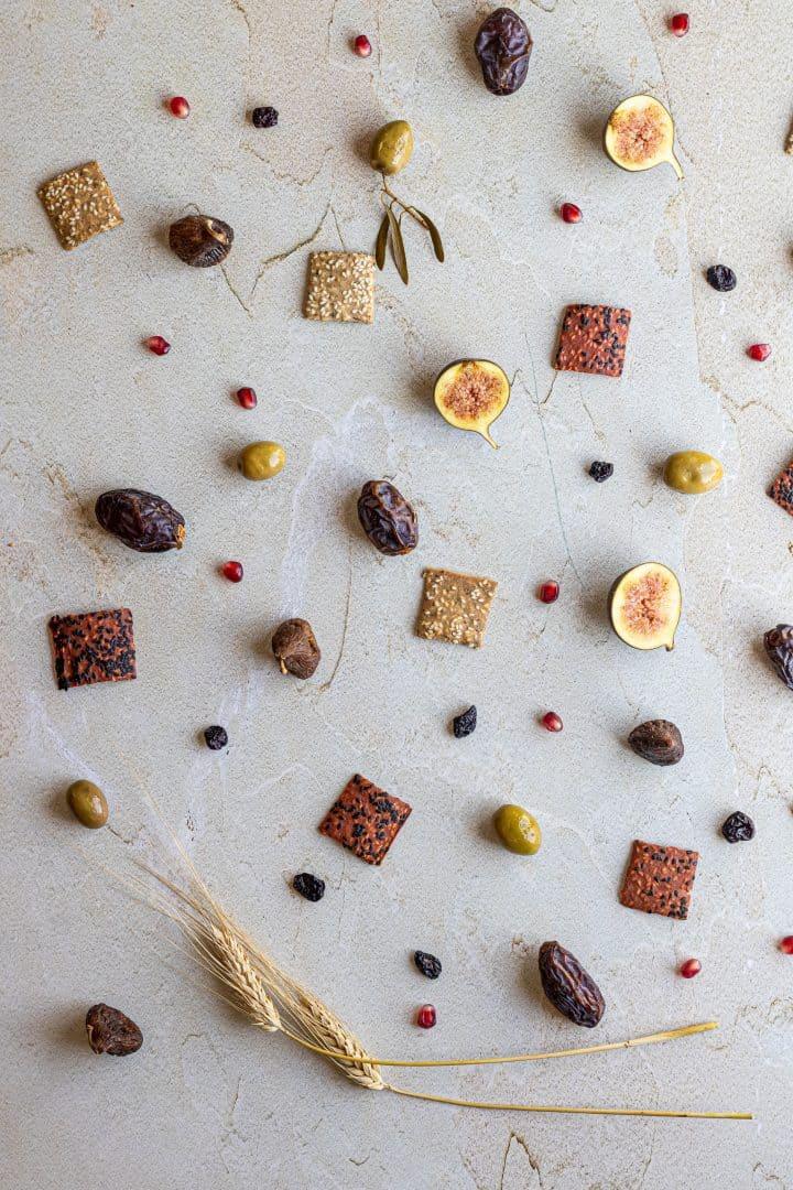 dried fruit for tu b'shvat board